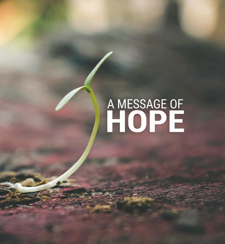 A Message of Hope Banner