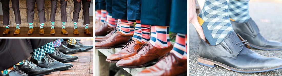 Example of Patterned Groomsmen Wedding Socks