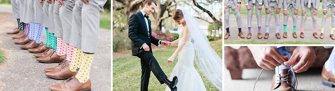 Example of Polka Dot Groomsmen Wedding Socks from boldSOCKS