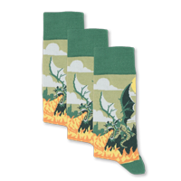 Example of Green Dragon Socks available on boldSOCKS