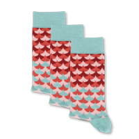 Example of Mermaid Scale Socks available on boldSOCKS