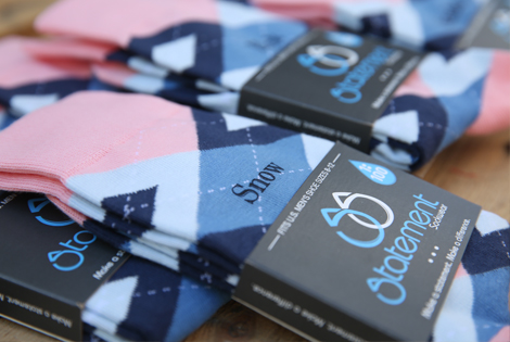 Pink and Blue Argyle Customized Text Groomsmen Dress Socks|Pink and Blue Argyle Customized Text Groomsmen Dress Socks