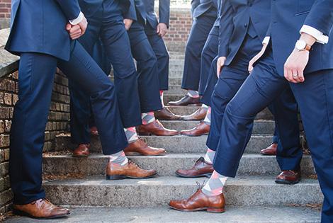 Coral and Gray Wedding Groomsmen Dress Socks|Coral and Gray Wedding Groomsmen Dress Socks