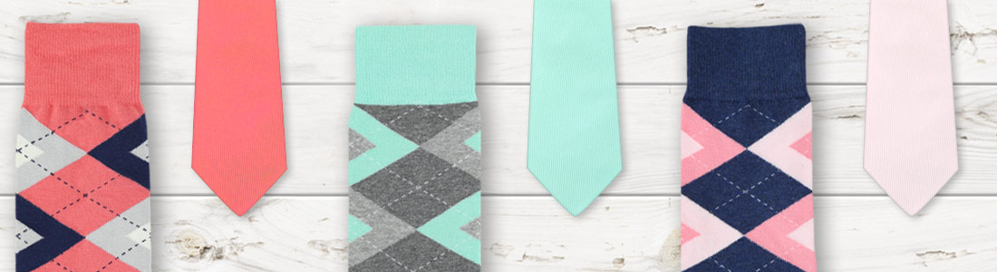 Example of Sock and Tie Groomsmen Kits