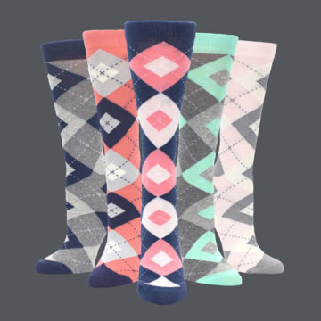 Womens Argyle Dress Socks