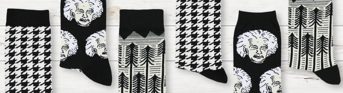 Example of Women's Black & White Socks from boldSOCKS