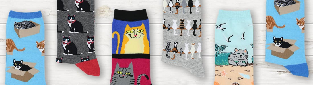 Example of Women's Cat Socks from boldSOCKS