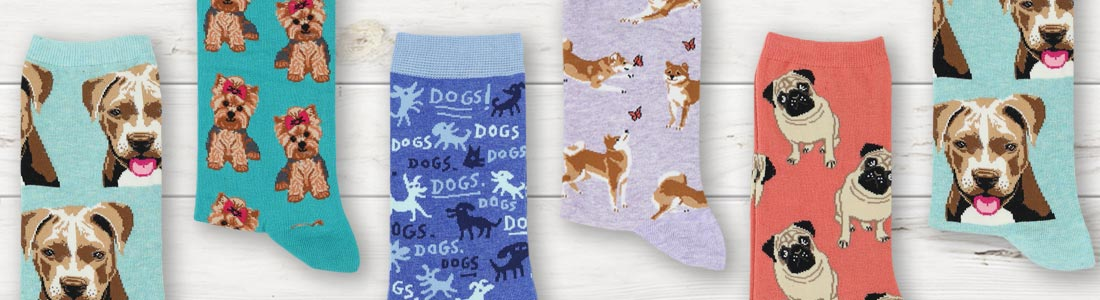 Example of Women's Dog Socks from boldSOCKS