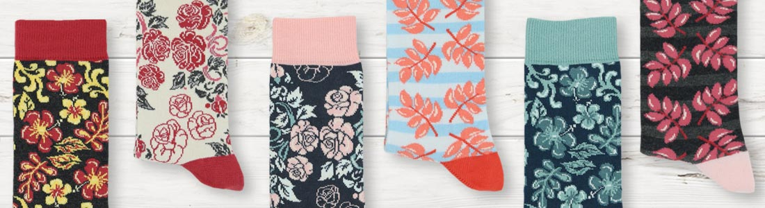 Example of Women's Floral Socks from boldSOCKS