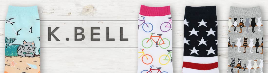 Example of Women's K Bell Socks from boldSOCKS