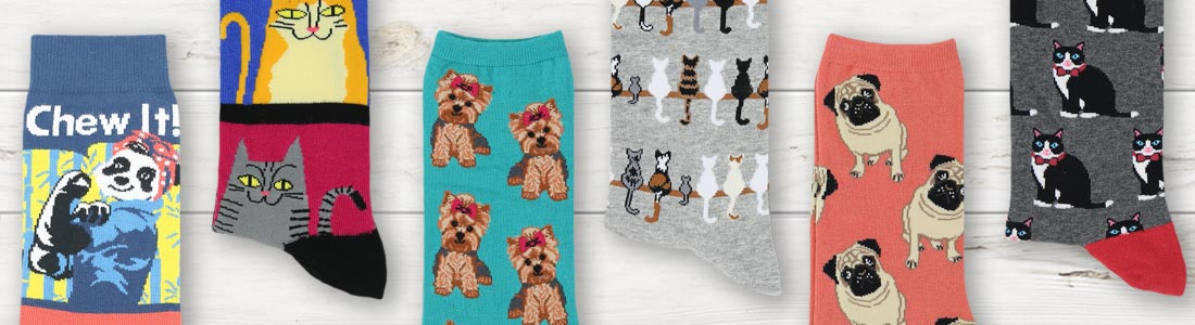 Example of Women's Land Animal Socks from boldSOCKS