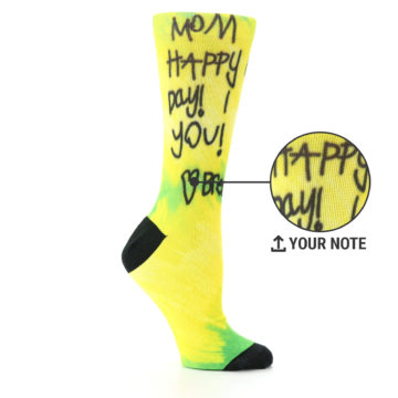 0a3f83c92 Image of Women s Happy Mother s Day Handwritten Yellow and Green Note