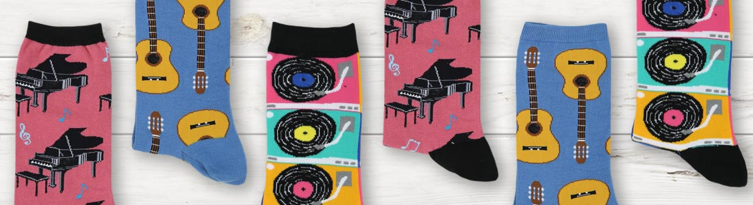 Example of Women's Music Socks from boldSOCKS