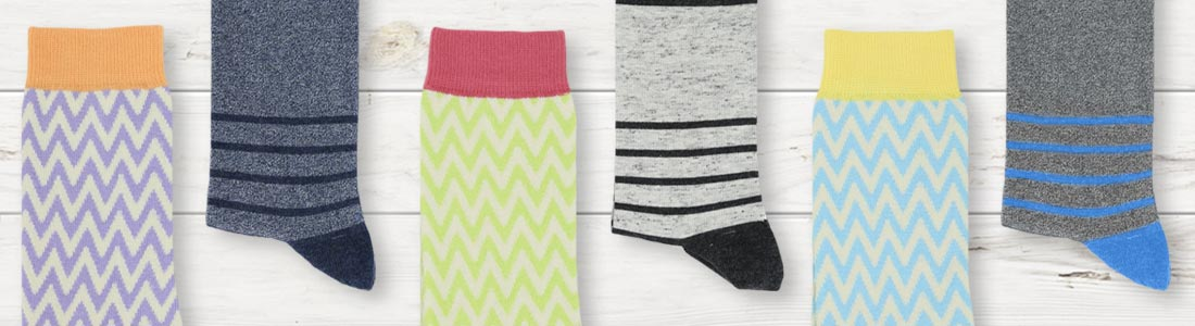 Example of Women's Striped Socks from boldSOCKS