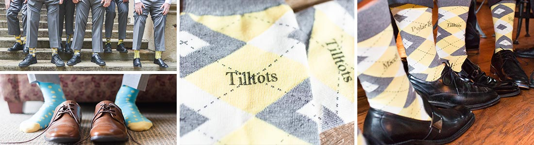 Example of Yellow Groomsmen Wedding Socks from boldSOCKS
