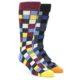 Image of Red Blue Black Check Men's Dress Socks Gift Box 2 Pack ck