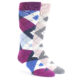 Image of Pink Mulberry Argyle Men's Dress Socks Gift Box 2 Pack al