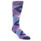 Image of Purple Argyle Dress Sock Gift Box 3 Pairs (front-04)
