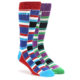 Image of Blue Purple Stacked Men's Dress Socks Gift Box 2 Pack le