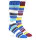 Image of Blue Red Stripe Men's Dress Socks Gift Box 2 Pack ti