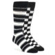 Image of Black and White Men's Dress Socks Gift Box 2 Pack nw