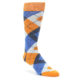 Image of Tangerine Argyle Dress Sock Gift Box 3 Pairs (side-1-front-02)